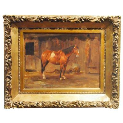 Oil On Panel, Horse By John Wesley Beatty