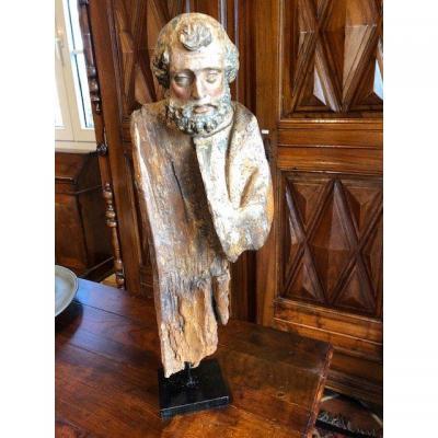 Une Sculpture d'Apôtre Du 17eme Siècle