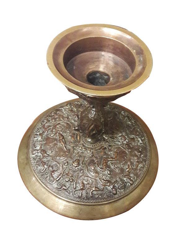 Une Coupe Sur Piedouche En Bronze Style Renaissance, 19ème Siècle-photo-3
