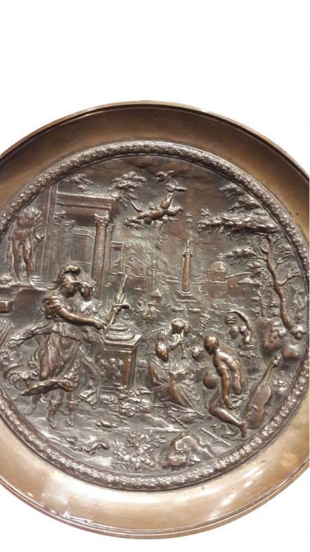 Une Coupe Sur Piedouche En Bronze Style Renaissance, 19ème Siècle-photo-4