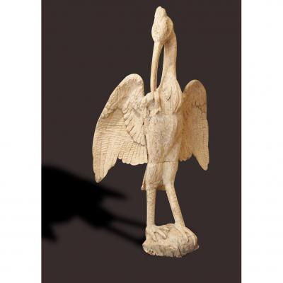 Ibis, Oak, 18th Century