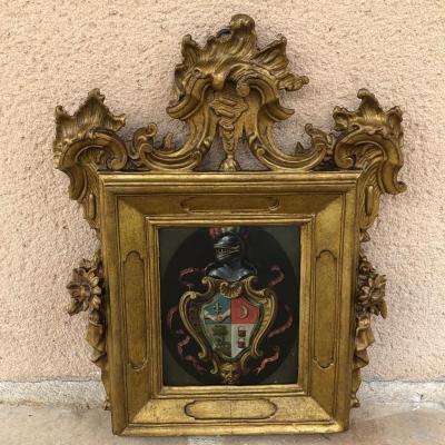 18th Century Copper Coat Of Arms