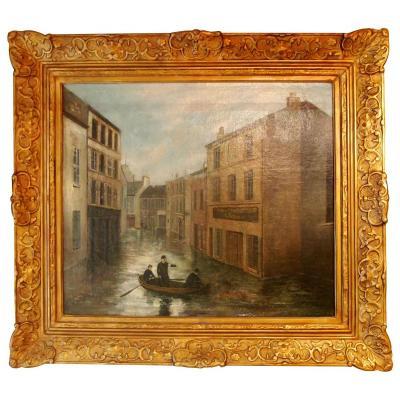 The Crue Of The Seine, Flood Ivry, Rue Jeanne Hachette. January 1910 By J. Boucher