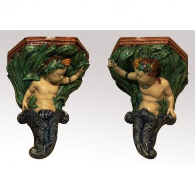 Pair Of Wall Brackets By Thomas Sergent