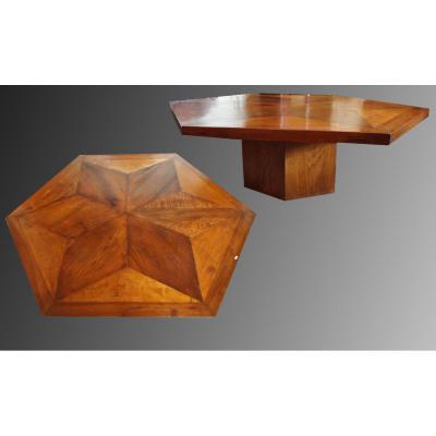 Une Table Hexagonale En Parquet XVIIIe