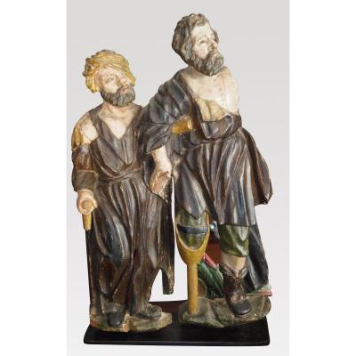 Carved Wooden Sculpture, Fine Seventeenth Century