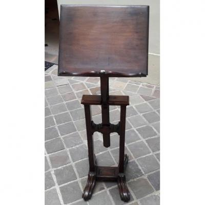 A Solid Mahogany Easel 19th Century