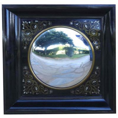 Miroir En Marqueterie Boule Napoléon III