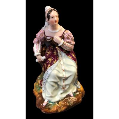 A Perfume Bottle, Woman In Renaissance Costume
