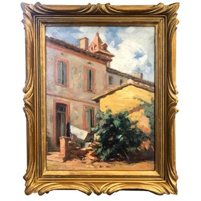 Oil On Canvas, House By Antoine Raynolt