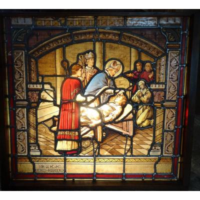 Stained Glass Window, Religious Scene