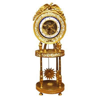 Skeleton Clock Directoire Period By Bergmiller