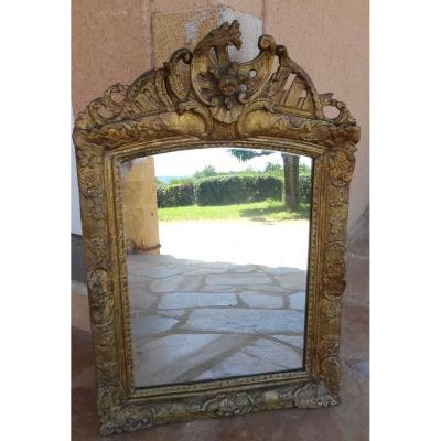 Un Miroir époque Louis XV En Bois Doré