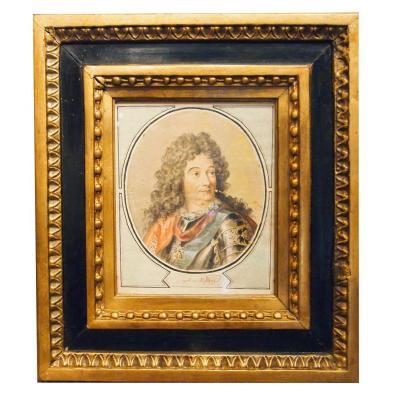 A Watercolor Representing Marshal De Villard By Sergeant Moreau
