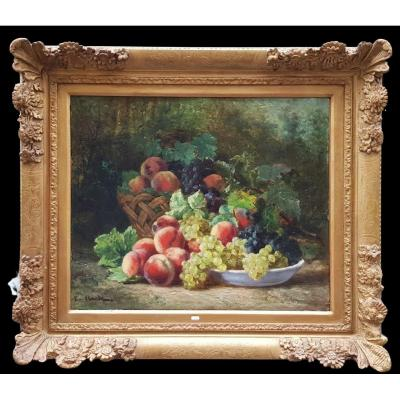 A Still Life With Fruits By Eugène Claude From The Nineteenth.
