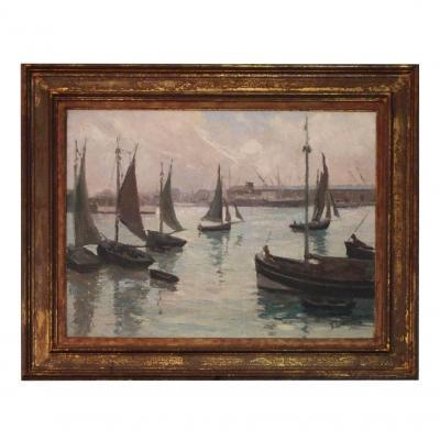 Oil On Canvas Marine