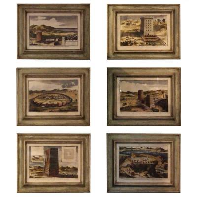 Six Watercolor Prints