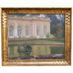 Oil On Canvas, The Grand Trianon By Robert Genicot