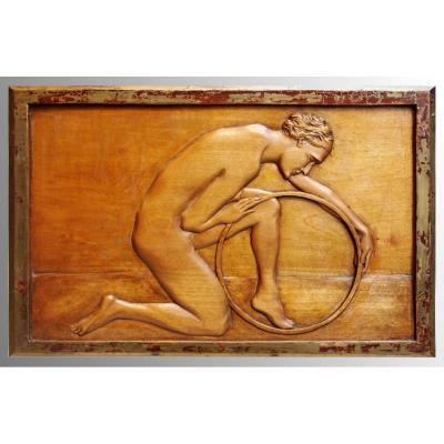 Panneau De Bois Sculpté, 1920/1930