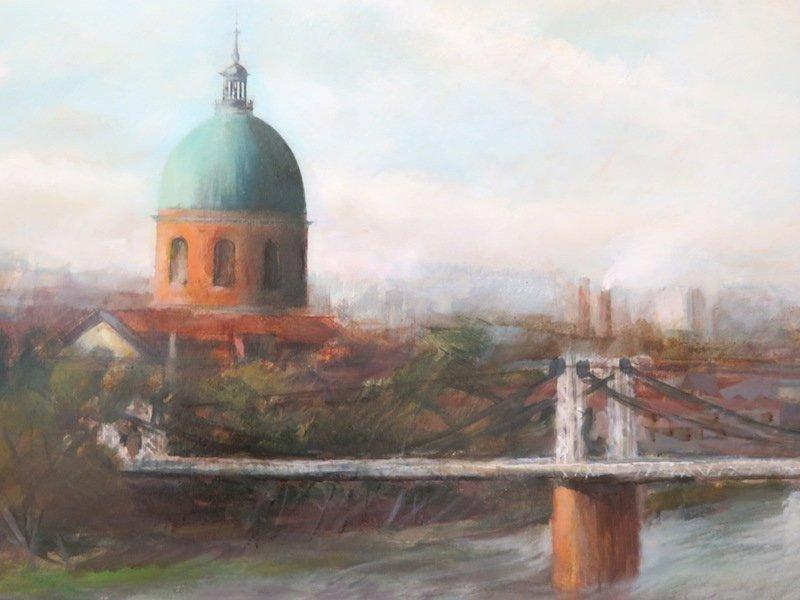 Corneille Jean : Le Pont Suspendu à Toulouse-photo-3