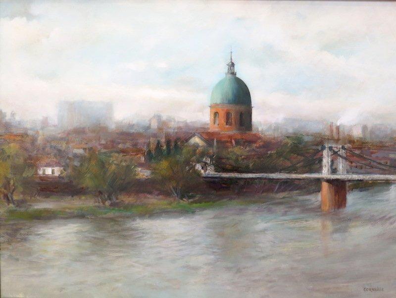 Corneille Jean : Le Pont Suspendu à Toulouse-photo-2