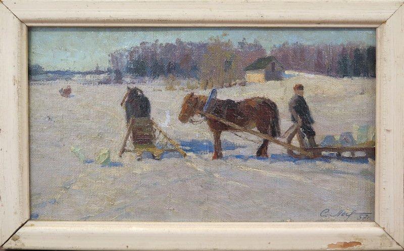 Russian School: Sleigh Under The Snow