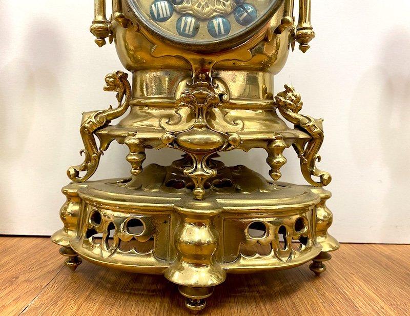 Napoleon III Period Garniture In Gilded Bronze-photo-1