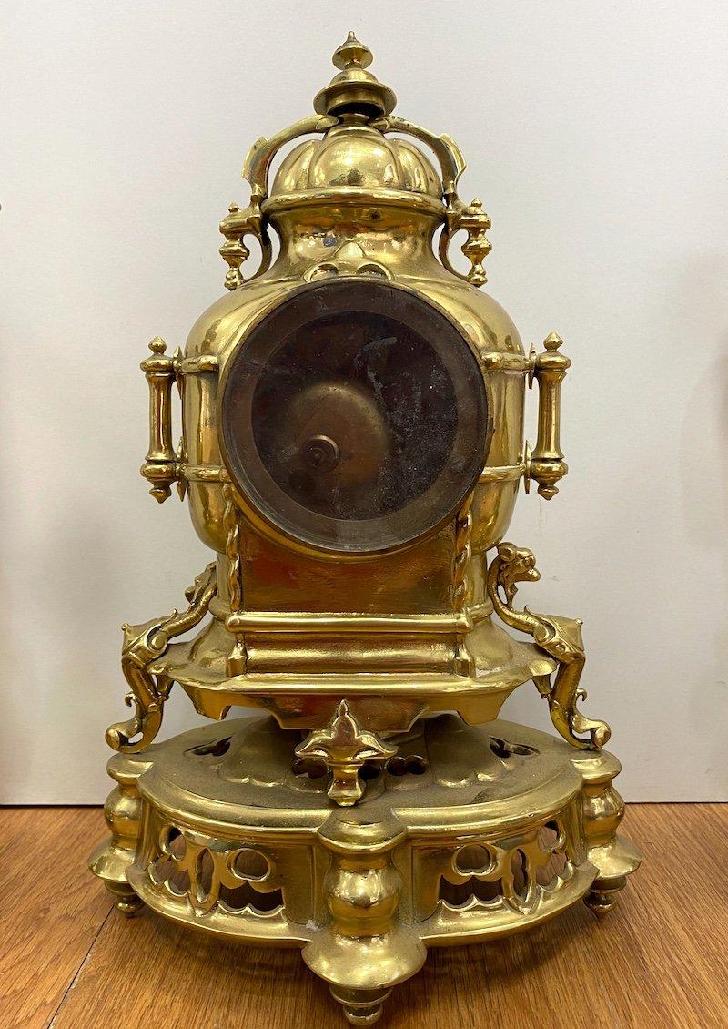 Napoleon III Period Garniture In Gilded Bronze-photo-6