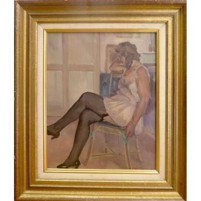 Bascoules Jean Désiré :  Femme assise