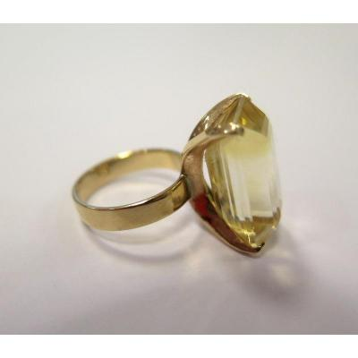 Gold Ring With A Citrine Stone