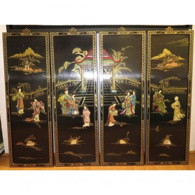 4 Chinese Panel Paintings