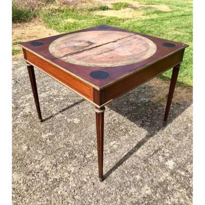 Table à Jeu Style Louis XVI