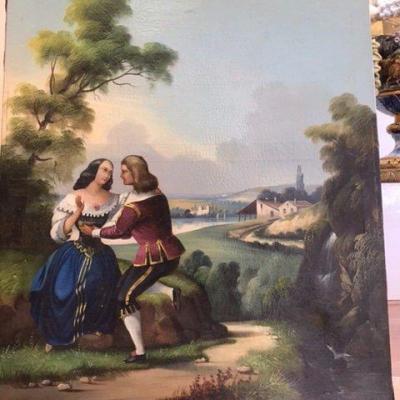 Scène Galante D'époque Napoléon III