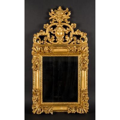 Miroir en bois sculpté - Style Louis XV