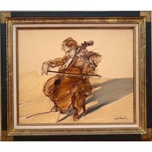 """WEISBUCH Claude """"La concentration du Violoncelliste"""""""