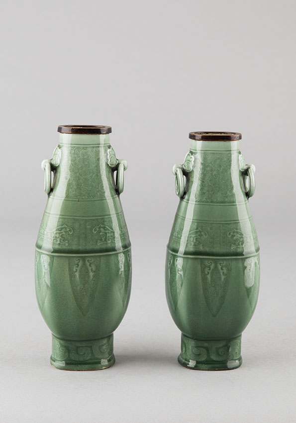 Pair Of Chinese Style Vases - Theodore Deck (1823-1891)