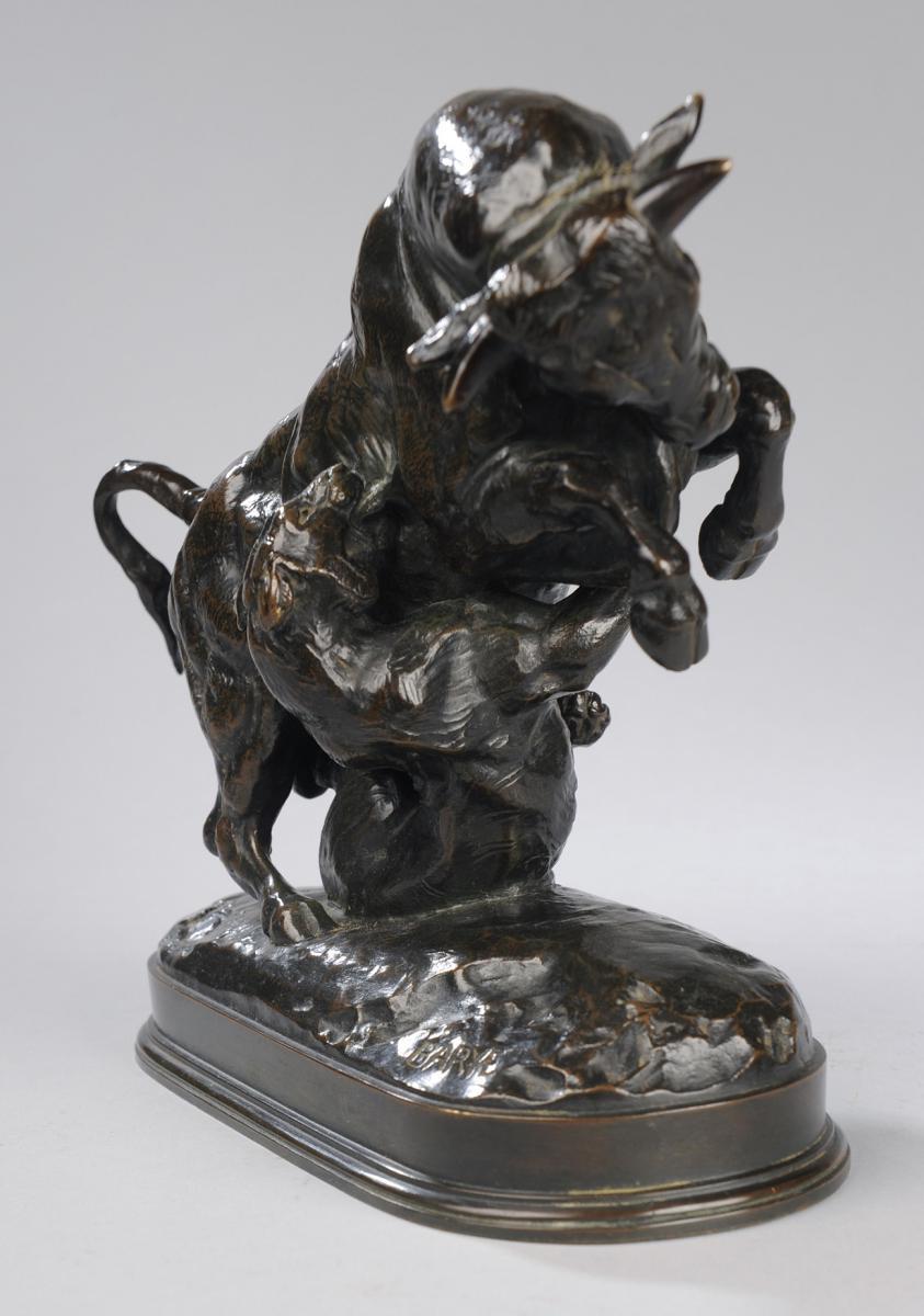 Taureau et Tigre - Antoine-Louis Barye (1796-1875)