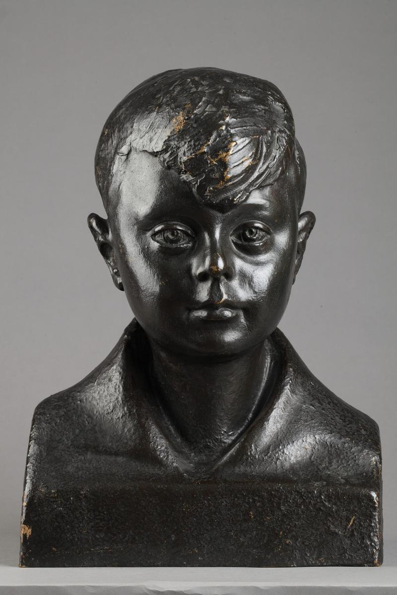 Buste D'enfant - Pedro Meylan (1890-1954)