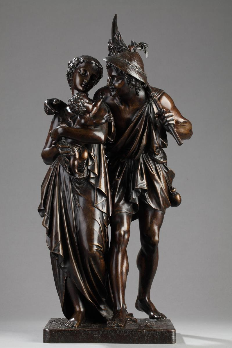 Famille De Jardiniers - Henry Etienne Dumaige (1830-1888)
