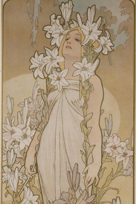 La Rose et Le Lys - Alphonse Mucha (1860-1939)-photo-1