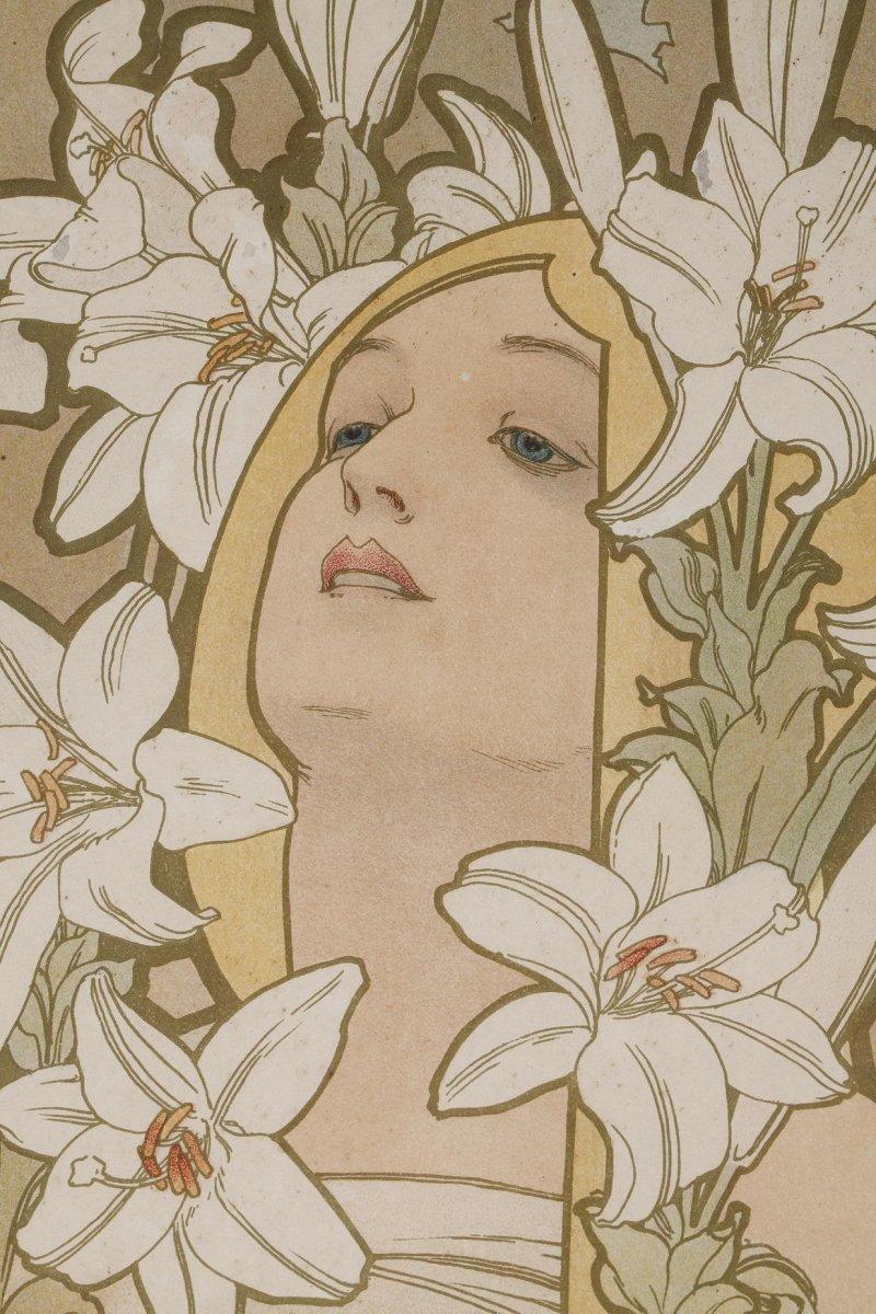 La Rose et Le Lys - Alphonse Mucha (1860-1939)-photo-3