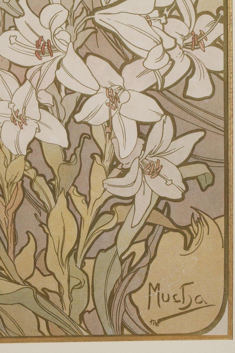 La Rose et Le Lys - Alphonse Mucha (1860-1939)-photo-4