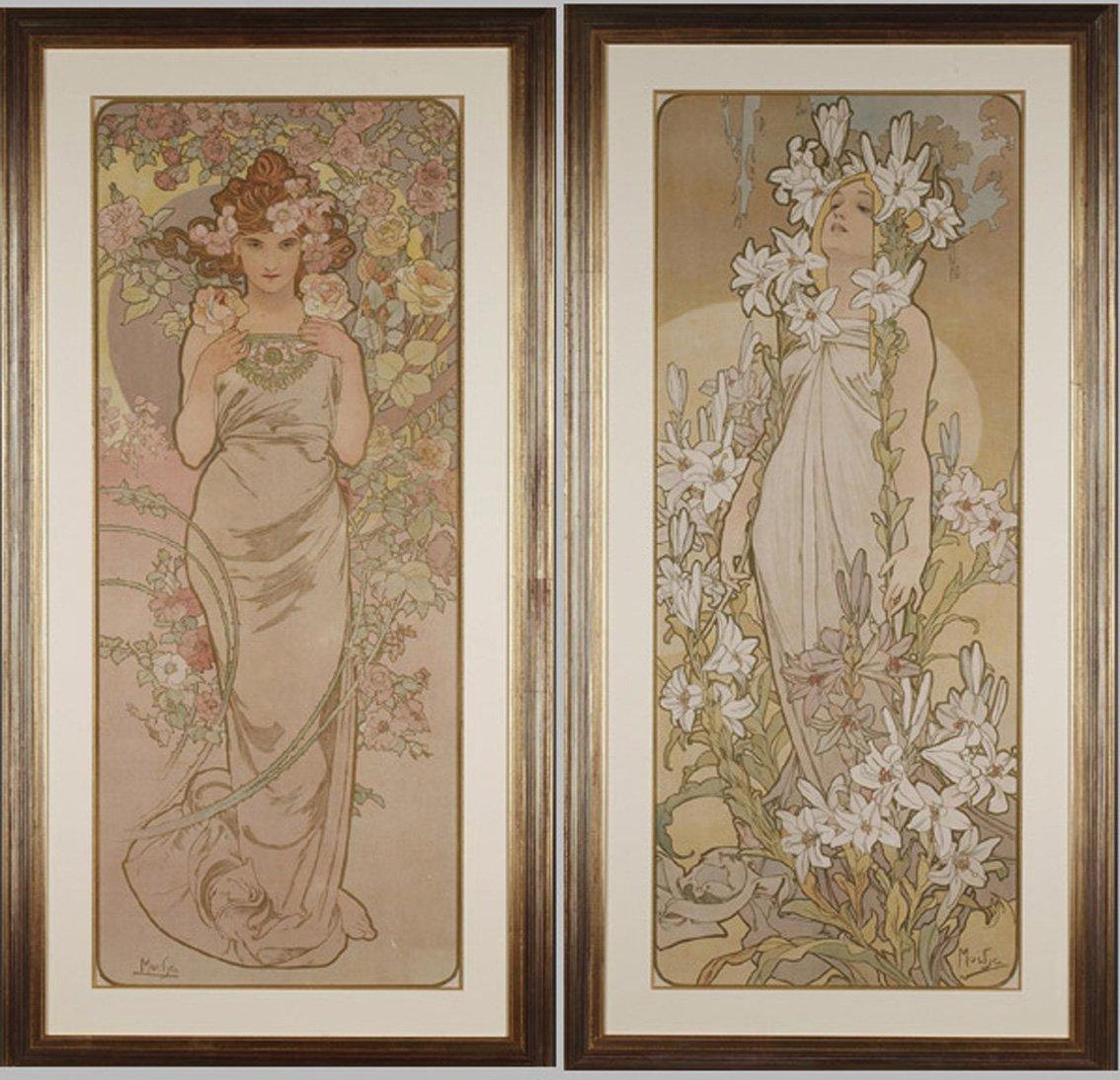 La Rose et Le Lys - Alphonse Mucha (1860-1939)
