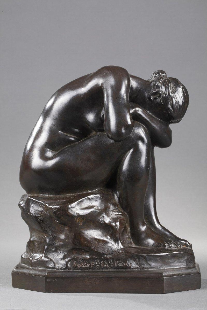 Le Miroir Brisé Ou La Vérité Méconnue - Aimé-jules Dalou (1838-1902)