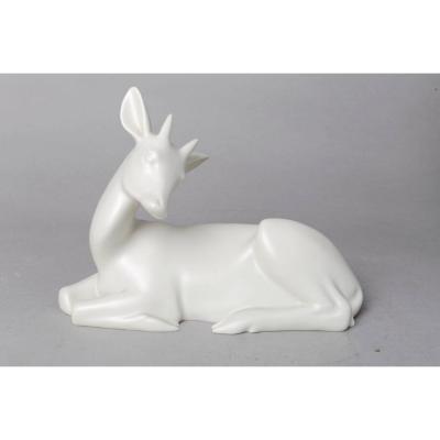 Antilope Couchée Avec Cornes - Armand Petersen (1891-1969)