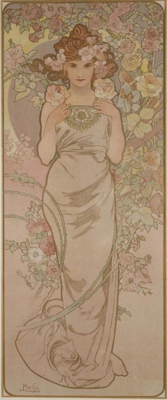 La Rose et Le Lys - Alphonse Mucha (1860-1939)-photo-2