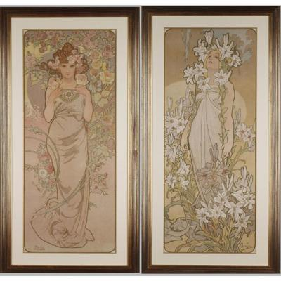 The Rose And The Lily - Alphonse Mucha (1860-1939)