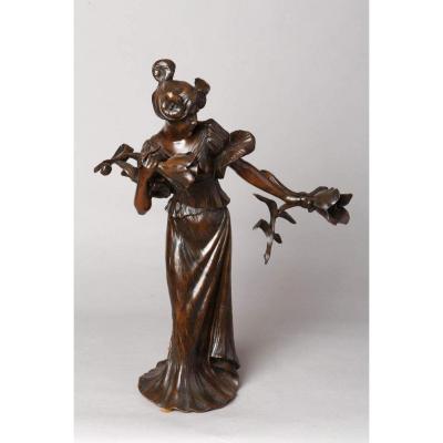 Lampe Art Nouveau - Luighi Salesio (1890-1925)