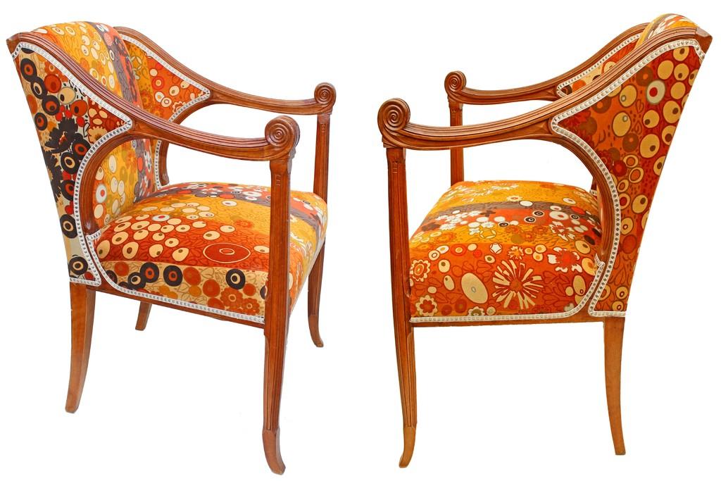 Rapin 1873 1939 Set Of Art Nouveau Chairs Armchair