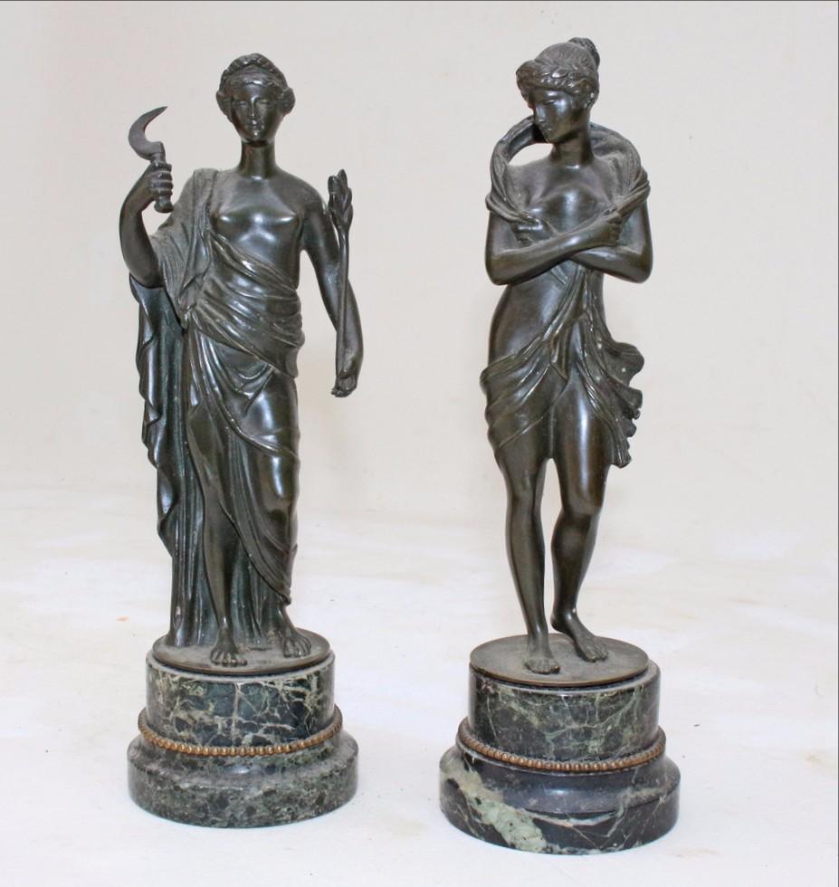 Paire De Sculptures Bronze époque XVIIIe